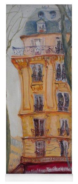 Cafe Bar La Cappuccino, 2010 Oil On Canvas Yoga Mat