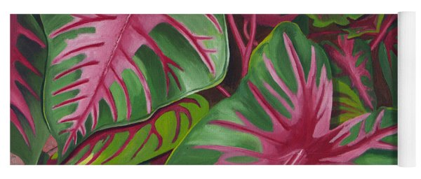 Caladiums Yoga Mat