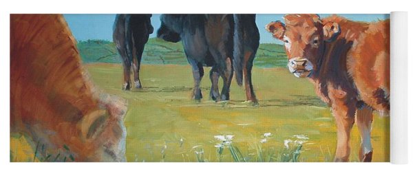 Calf Painting Yoga Mat