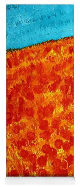 California Poppies Original Painting Yoga Mat