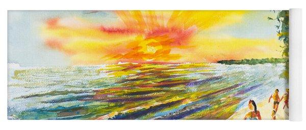 California Sunset Yoga Mat
