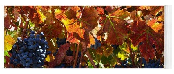 California Wine Grapes Yoga Mat