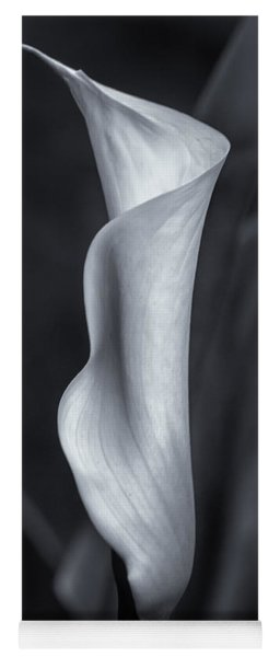 Yoga Mat featuring the photograph Calla Lily No. 2 - Bw by Belinda Greb
