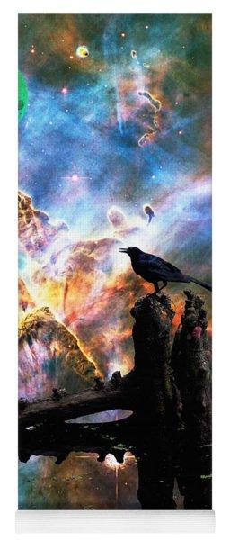 Calling The Night - Crow Art By Sharon Cummings Yoga Mat