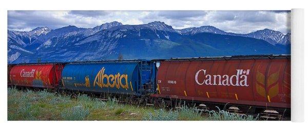Canadian Freight Train In Jasper #2 Yoga Mat