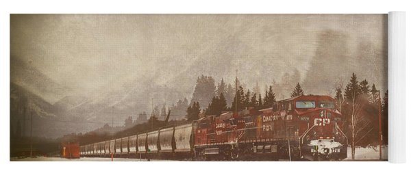 Canadian Pacific In Banff  Yoga Mat