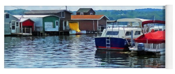 Canandaigua Fishing Shacks Yoga Mat