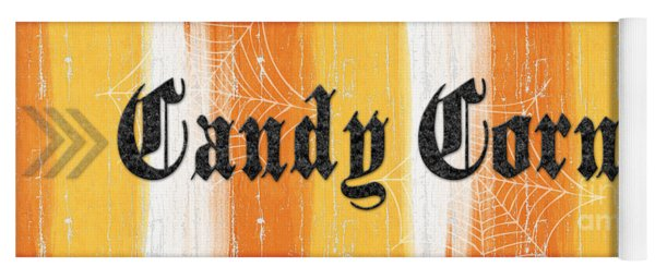 Candy Corn Sign Yoga Mat