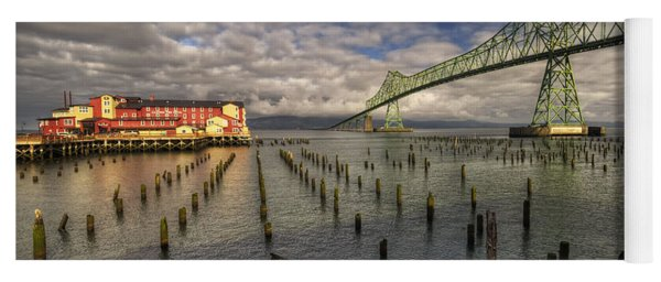 Cannery Pier Hotel And Astoria Bridge Yoga Mat