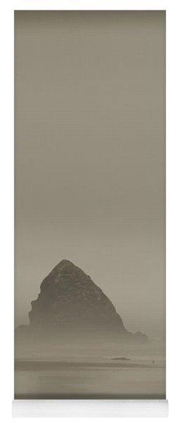 Cannon Beach In A Fog Oregon Yoga Mat