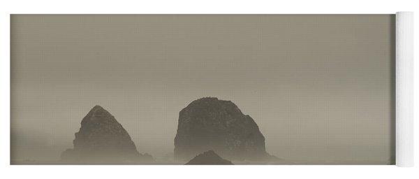 Cannon Beach In A Fog Oregon Yoga Mat