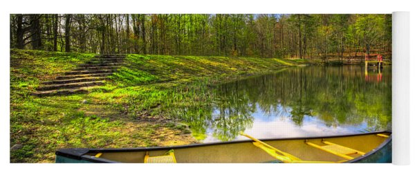 Canoeing At The Lake Yoga Mat