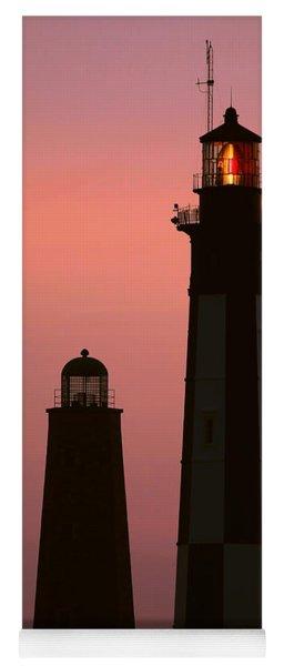 Cape Henry Lighthouses  Yoga Mat