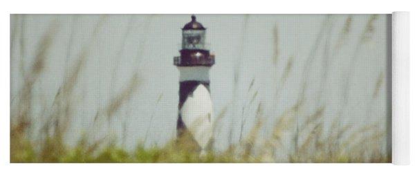 Cape Lookout Lighthouse - Vintage Yoga Mat