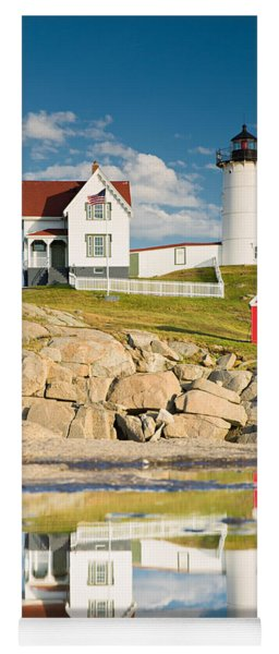 Cape Neddick Light  Reflections Yoga Mat