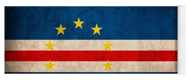 Cape Verde Flag Vintage Distressed Finish Yoga Mat