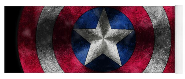 Captain America Shield Yoga Mat
