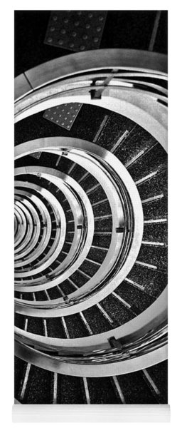 Time Tunnel Spiral Staircase In Sao Paulo Brazil Yoga Mat