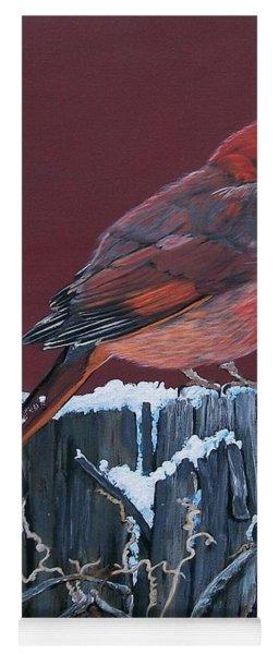 Cardinal Winter Songbird Yoga Mat