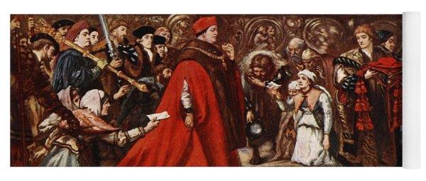 Cardinal Wolsey On His Way Yoga Mat