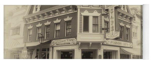 Carnation Cafe Main Street Disneyland Heirloom Yoga Mat