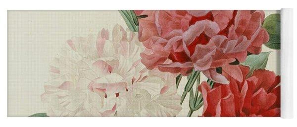 Carnations From Choix Des Plus Belles Fleures Yoga Mat
