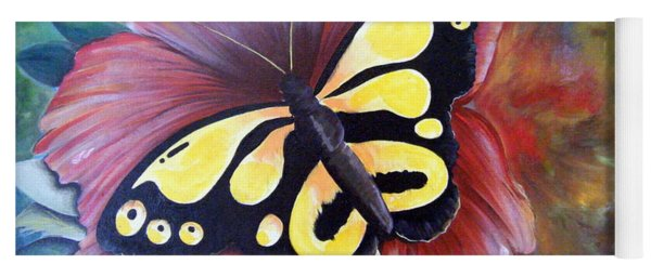 Carnival Butterfly Yoga Mat