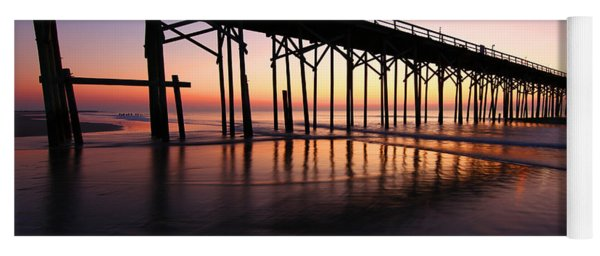 North Carolina Beach Pier - Sunrise Yoga Mat
