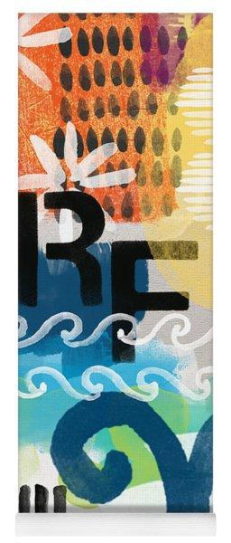 Carousel #7 Surf - Contemporary Abstract Art Yoga Mat