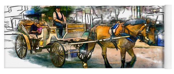 Carriage Ride Yoga Mat