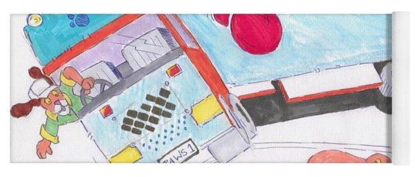 Cartoon Truck Lorry Yoga Mat
