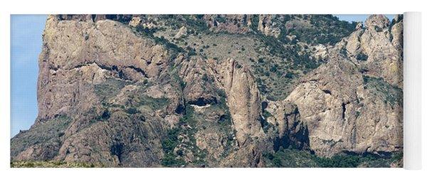 Casa Grande Mountain In Big Bend Yoga Mat
