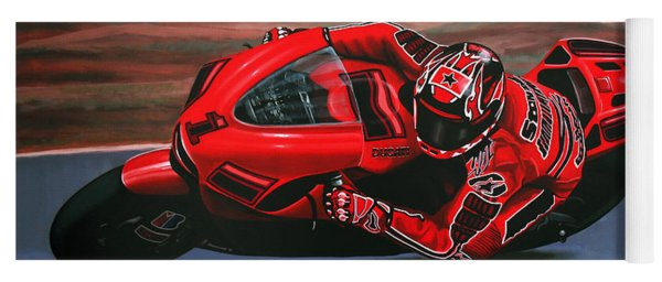 Casey Stoner On Ducati Yoga Mat