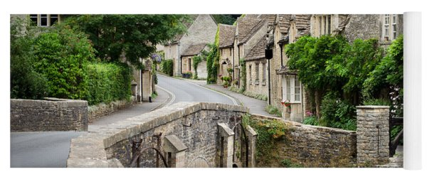 Yoga Mat featuring the photograph Castle Combe Cotswolds Village by IPics Photography