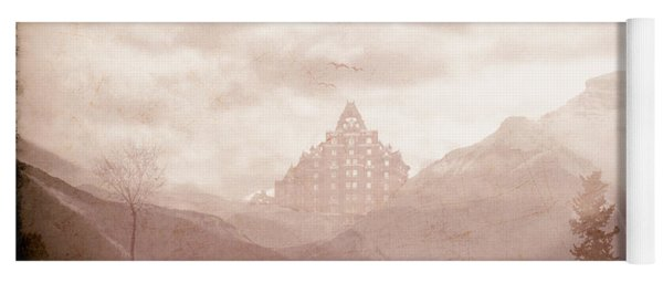 Castle In The Mountains Yoga Mat