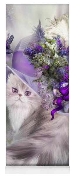 Cat In Easter Lilac Hat Yoga Mat