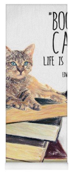 Cat Quote By Edward Gorey Yoga Mat