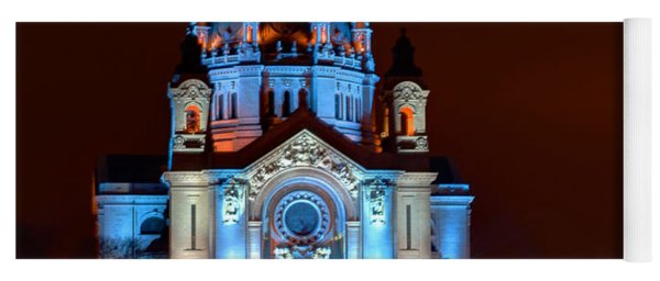 Cathedral Of St Paul All Dressed Up For Red Bull Crashed Ice Yoga Mat