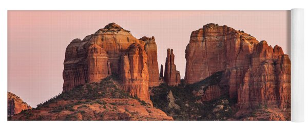 Yoga Mat featuring the photograph Cathedral Rock Sunset by Mary Jo Allen