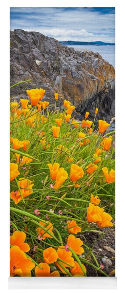 Cattle Point Poppies Yoga Mat