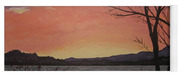 Caucomgomoc Lake Sunset In Maine Yoga Mat