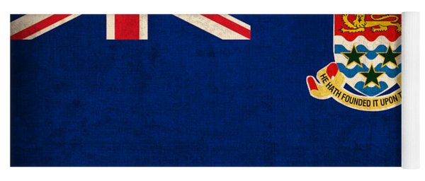 Cayman Islands Flag Vintage Distressed Finish Yoga Mat