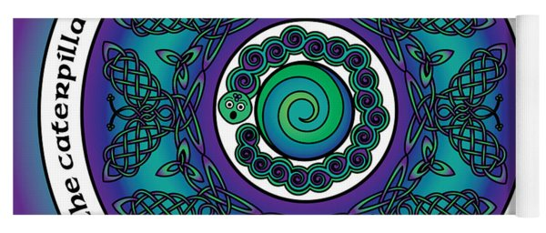 Celtic Butterfly Mandala Yoga Mat
