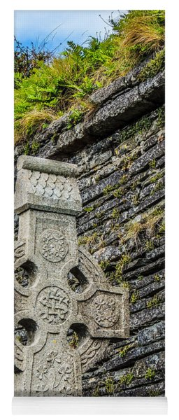 Celtic Cross At Kilmurry-ibrickan Church Yoga Mat