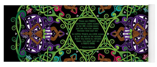 Celtic Fairy Mandala Yoga Mat