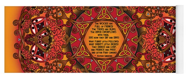 Celtic Fall Fairy Mandala Yoga Mat