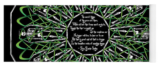 Celtic Flower Of Death Yoga Mat