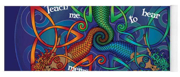 Celtic Mermaid Mandala Yoga Mat