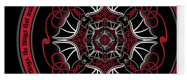 Celtic Vampire Bat Mandala Yoga Mat