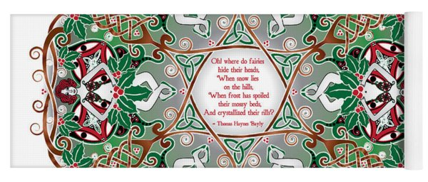 Celtic Winter Fairy Mandala Yoga Mat
